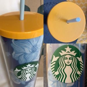 2/$55 NEW Blue 24oz Starbucks Cold Travel Cup Rare